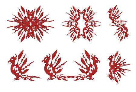 Phoenix symbols Vector
