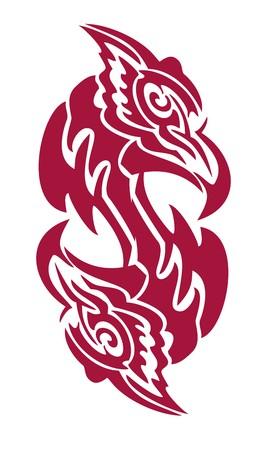 twirled: Aquila simbolo a forma di dollaro Vettoriali