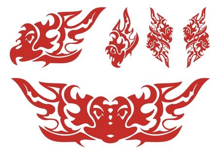open flame: Flaming eagle symbols