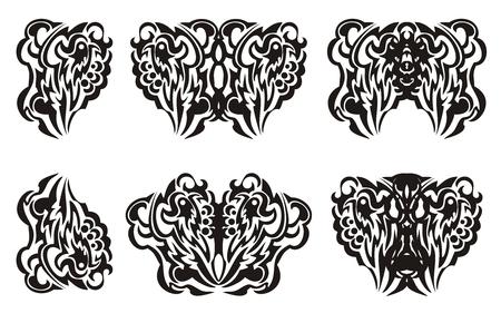 wings tattoo: Tribal butterfly wings tattoo