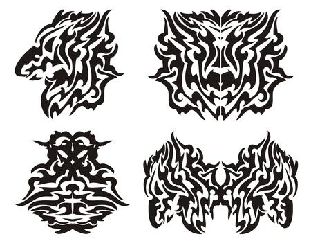 dragon tribal: �l�ments de dragon tribal Illustration