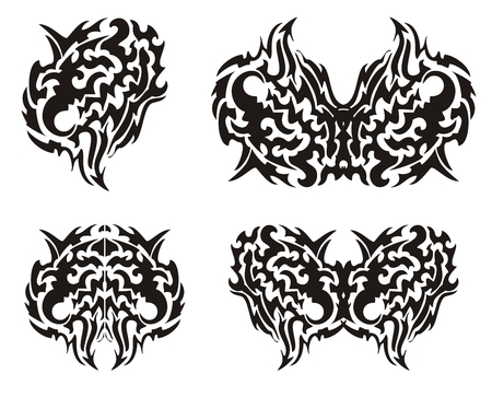 Tribal wings of a butterfly Vector