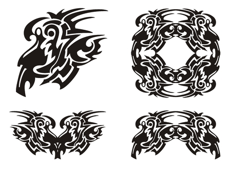 Tribal decorative elements Vector
