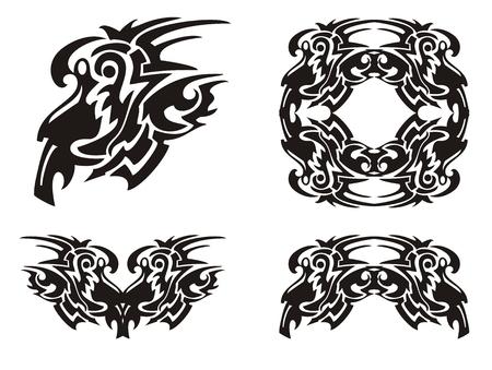 roundish: Tribal decorative elements