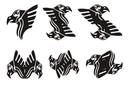 awful: Tribal eagle head symbols