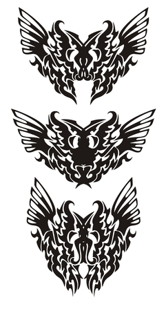 Tribal butterfly wings in dragon form Vector
