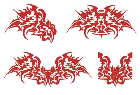flaming: Flaming dragon head symbols