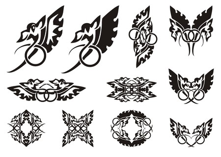 Flaming Winged Dragon Symbols Double Symbols Of A Dragon A