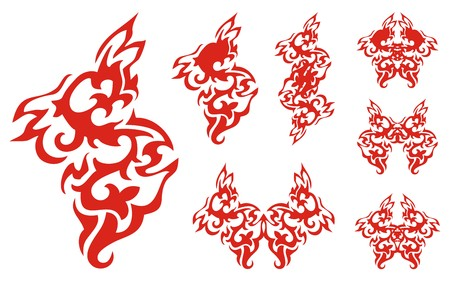 flaming: Flaming Phoenix element and symbols from it