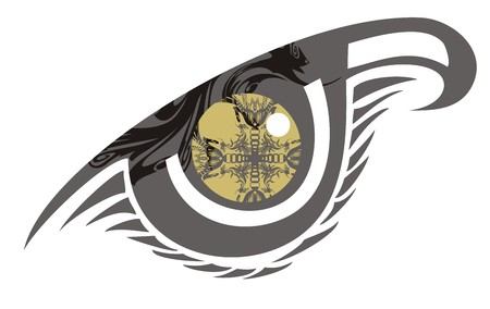 Abstract eye with cross inside. Fantastic laconic eye symbol for your design