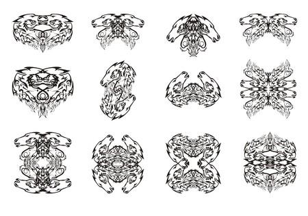 Tattoos design pattern. Illustration