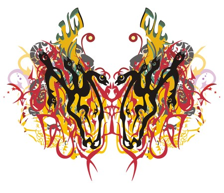 Grunge tribal linear butterfly pattern. Majestic butterfly wings symbolizing power and courage. Suitable for team Mascot, corporate identity, community identity, product identity, etc.