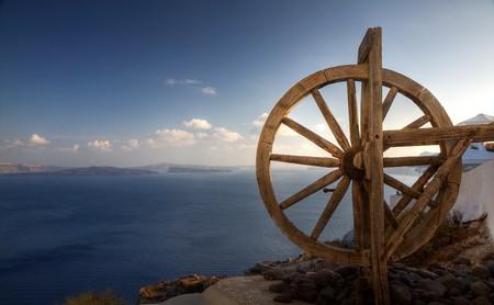 waterwheel: Waterwheel in a Caldera Stock Photo
