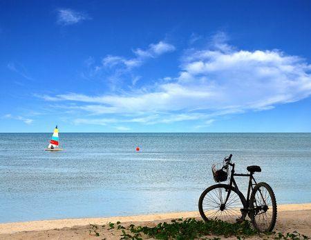 Thai beach holiday at the beach.