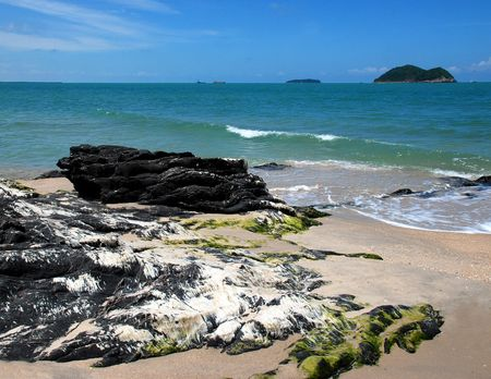 Beach, Songkhla, southern Thailand Stock Photo