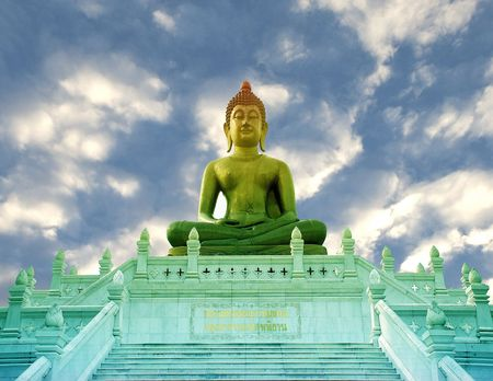 Big Buddha Image Thailand Stock Photo