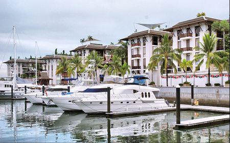 A luxury marina,Phuket  of Thailand Stock Photo