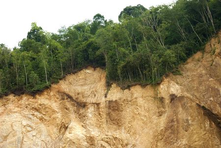 mud slide: Landslide, rains.