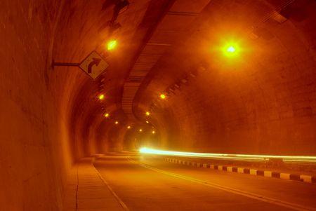 Highway tunnel. Stock Photo