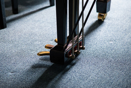 soft pedal: Piano pedal use for make various sound Stock Photo