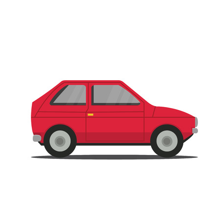 Vector sports red car front view illustration