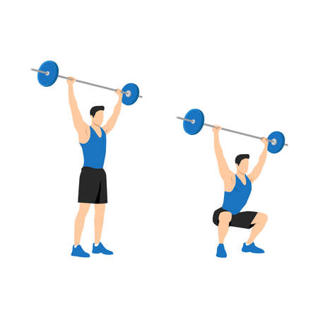 male Weight Lifter, Strength Training, Body Building, Crossfit Athlete Character Icon Set, infographic template Illustration