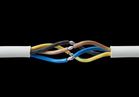 connection electrical cable through the soldering Stock Photo - 3244302
