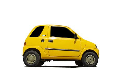 The small car from plastics