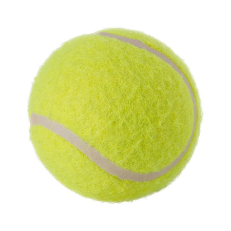 Tennis ball isolated on white photo