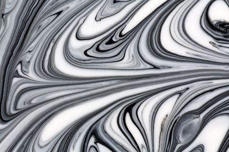 white marble: Mix of a white and black paint, closeup.