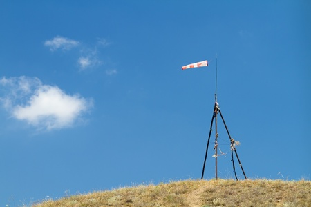 wind sock on a small hill