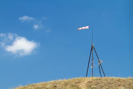 wind sock on a small hill
