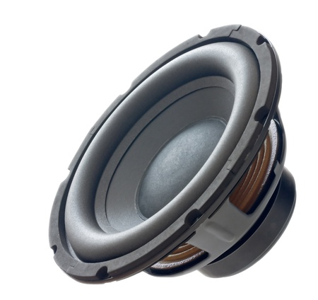 woofer: dynamic speaker sub-woofer  close up