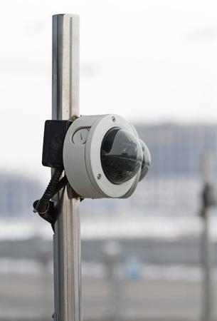 city surveillance: City surveillance camera Stock Photo