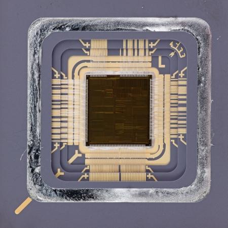 Big IC chip on macro