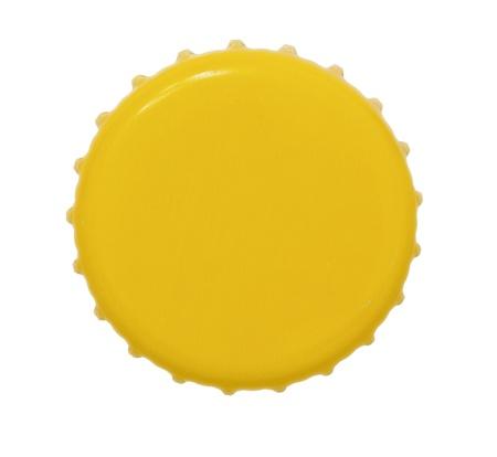 Isolated  yellow Metal Bottle Cap Stock Photo - 18596850