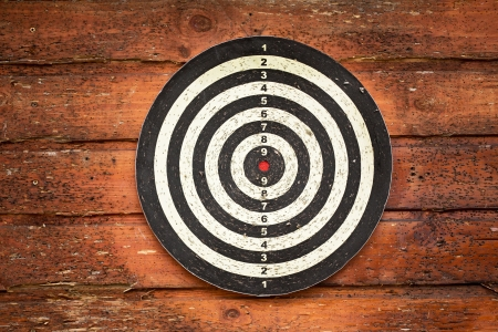 Red bulls eye on a dart bord