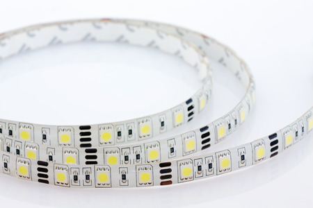 LED strip, coated with silicone, close-up  photo