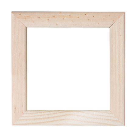 ornamentations: Empty picture frame, wood finish. Stock Photo