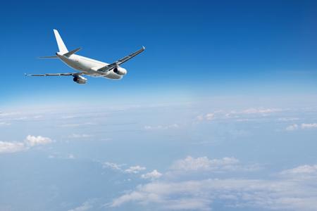 jet vliegtuig in de lucht Stockfoto