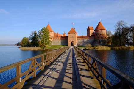 Trakai Castle at sunrise. Lithuania