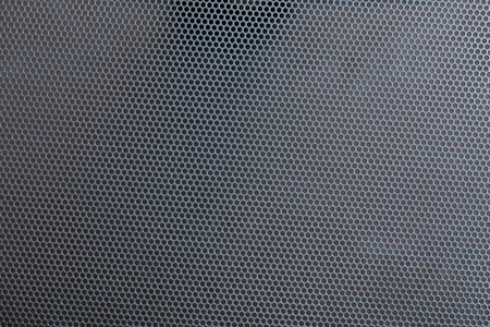 perforated: Metal perforated surface, background, texture