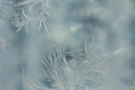 Frost on glass,  background