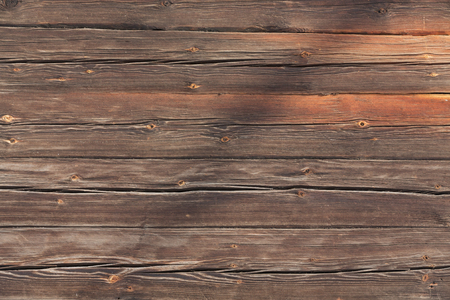 Brown wall with, nature look. Wood wallpaper, background Stock Photo