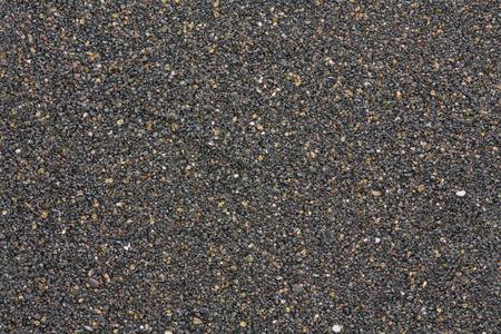 canarian volcanic black sand from Tenerife, closeup