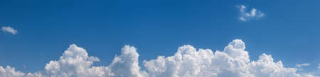panorama of blue sky with cumulus cloud at bottom Stock Photo - 154318843