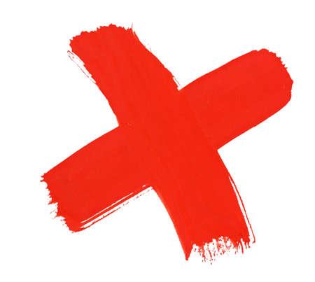 brush stroke, cross, isolated on white Stock Photo