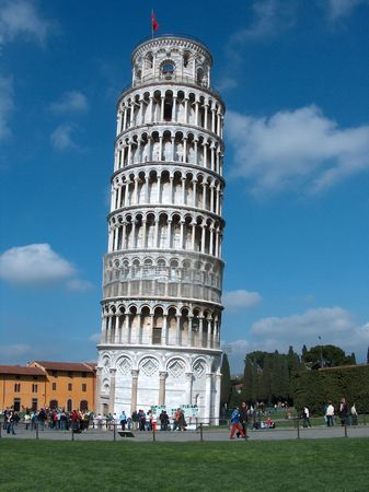 pisa: Toren van Pisa-Italië, gelegen in pisa stad