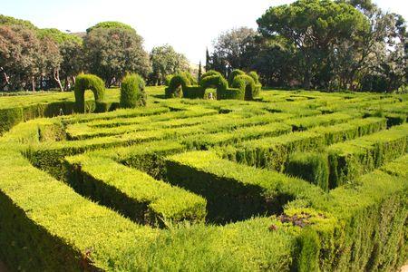 warren: Hedge design in park Stock Photo