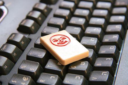 Joker on keyboard photo